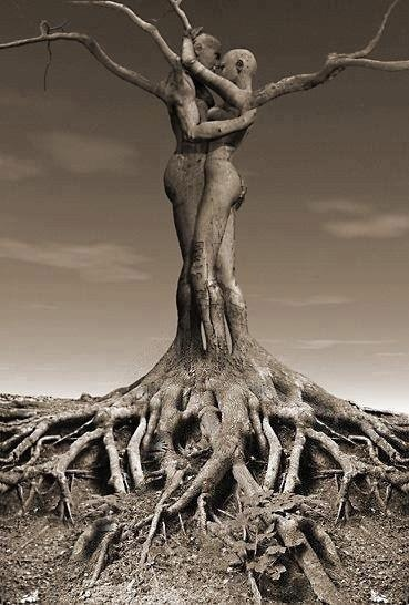 Roots of love. another version of my soon to be leg tattoo.