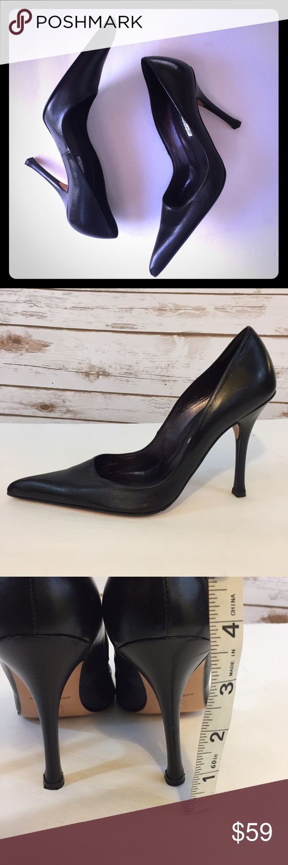 """CHARLES DAVID CLASSIC POINTED TOE HEELS - sz. 5 These CHARLES DAVID CLASSIC POINTED TOE HEELS/PUMPS are gently used with little signs of wear as seen on the sole. Not on upper.  The leather is soft and excellent quality.  These shoes are perfect for the office.  Heel is 3.5"""" Charles David Shoes Heels"""