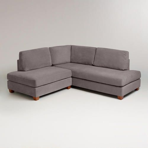 Charcoal Wyatt Sectional Sofa - excellent couch for small apartment! Add colorful pillows for some pop