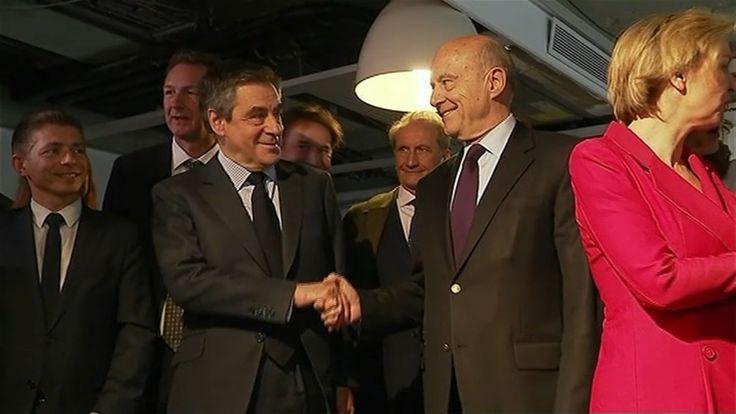 Retrouvaille de François Fillon et Alain Juppé à quatre jours du 1er tour