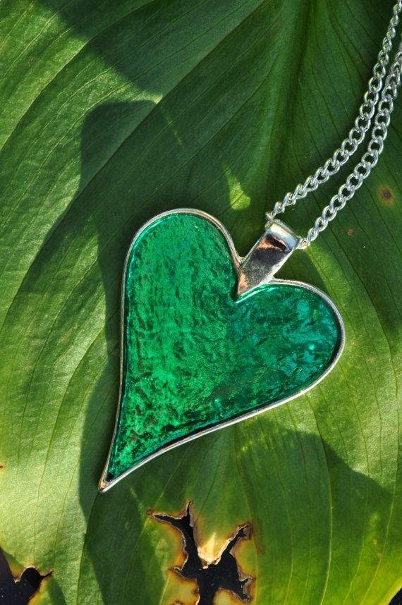 Resin Jewellery Emerald Green May Birthday by BeadsofCreation