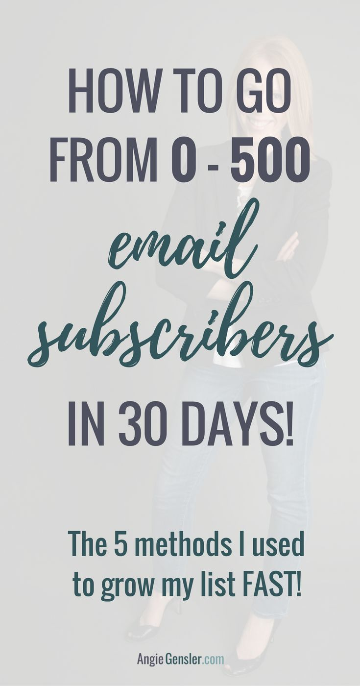 How to go from 0-50 email subscribers in 30 days // Angie Gensler