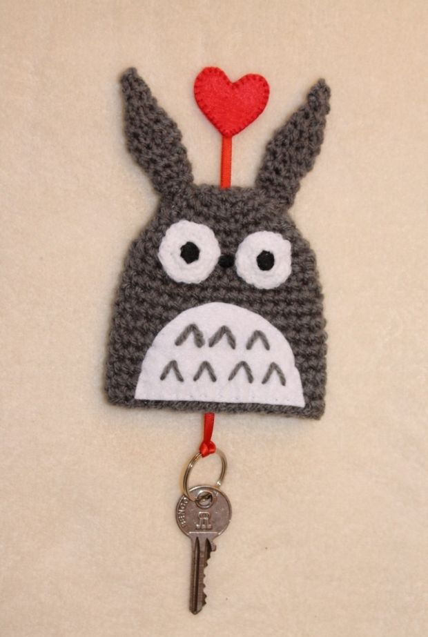 Crochet Stitches Key : Totoro Key Cozy / Sleutelhoes Patterns, Crochet and Places