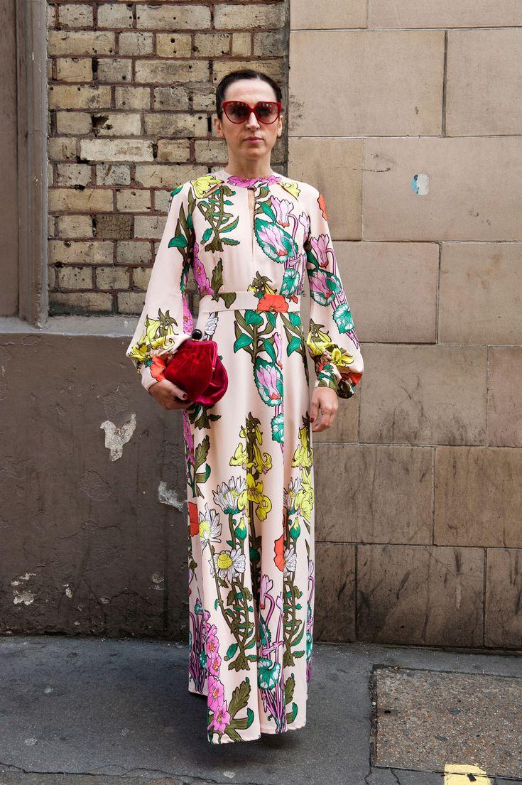 Street fashion - London Fashion Week wiosna lato 2016, ss2016, fot. Imaxtree