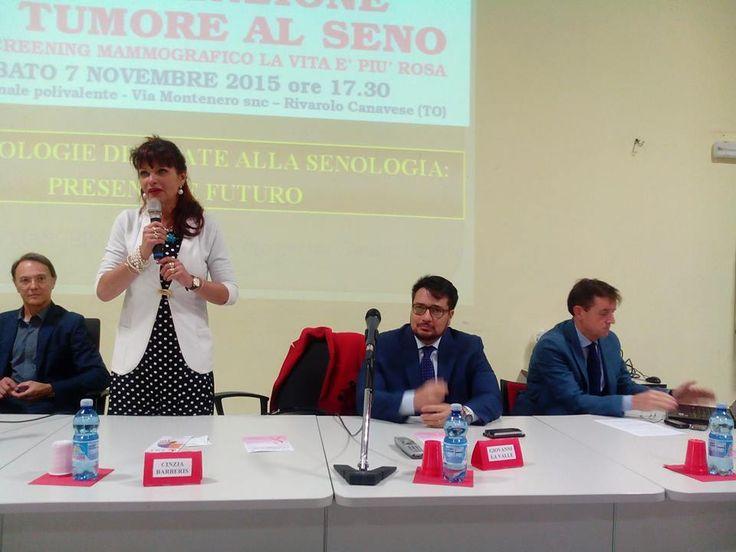 EVENTO LILT 7/11/2015: Ecco la Dott.ssa Barberis, delegata per Rivarolo Canavese