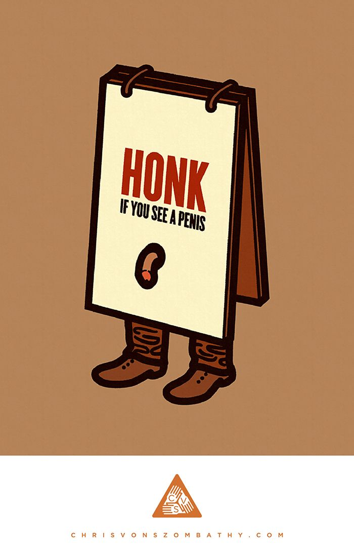 """Honk"" an illustration by artist/designer Chris von Szombathy."