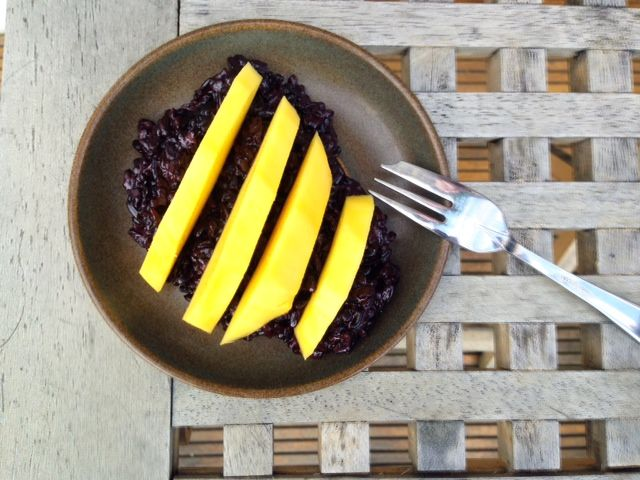 Black Coconut Rice & Mango Breakfast Recipe Enjoy something different for breakfast, such as this black coconut rice and mango porridge. It's filling, fruity and fresh and easy to make.