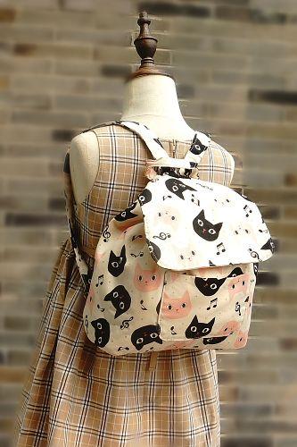 Super cute handmade kids backpack for girls or boys, using Japanese high quality fabrics.kindergarte…