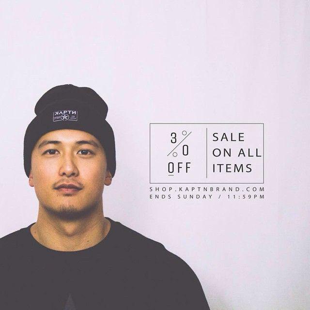 SALE ends 19 JAN Sunday 11.59PM. Don't sleep on it. #kaptnbrand #sale #streetwear #clothingbrand #kaptn #tshirts #snapback #hoodies #jumpers #crewnecks #hat #headwear #outerwear (at shop.kaptnbrand.com)