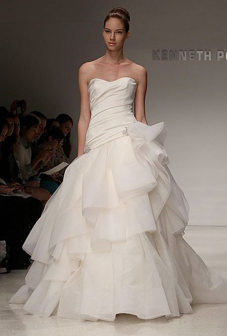 Brides.com: Jessica Biel's Wedding Dress: Get the Look. Kenneth Pool. Gown by Kenneth Pool  Browse more Kenneth Pool wedding dresses.
