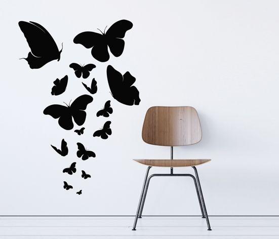 VÄGGDEKOR Fjärilar