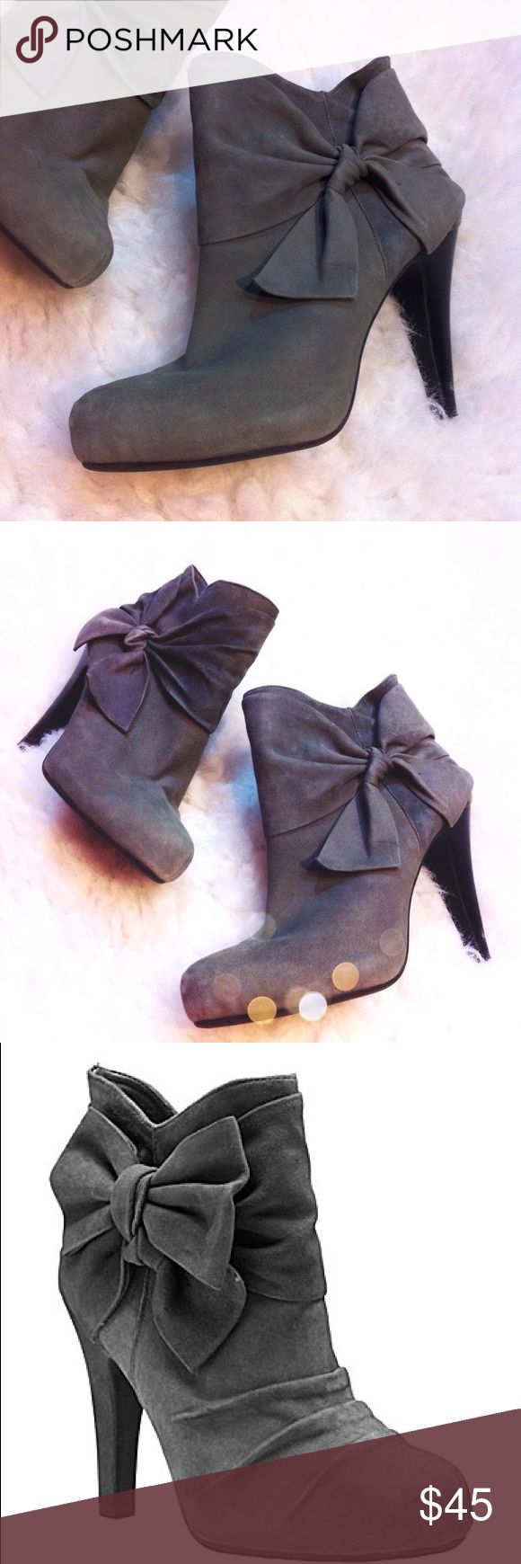 """Gianni Bini Robot Grey Suede Booties Gianni Bini 8 Gianni Bini Robot Grey Suede Booties Gianni Bini Robot Grey """"Angel"""" Booties. 8 gently used Gianni Bini Shoes Ankle Boots & Booties"""