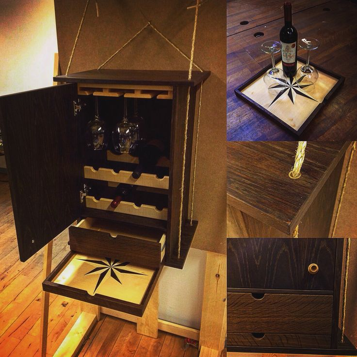 Woodworking Wine cabinet