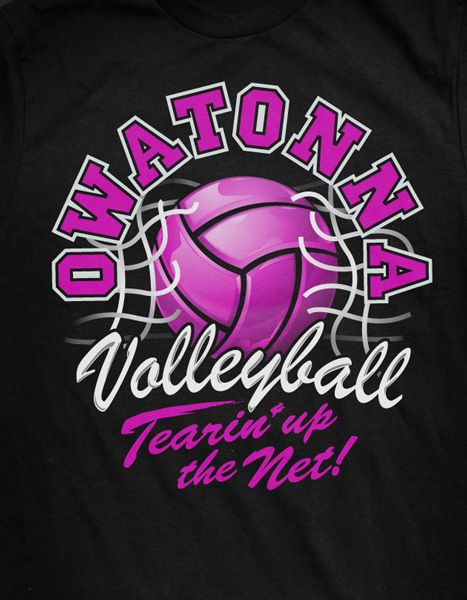 Illusration/Design   OHS Volleyball T Shirt On Behance