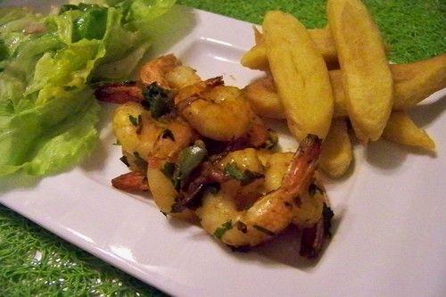 Cuisine en folie: Crevettes roses aux épices à l'Actifry hyper light, 10mn c'est prêt !