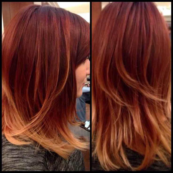 Love this Gorgeous red copper hair color melt by Tina! Give her a call to book a spot 856-751-4247!! ❤️ #salonheadcandy #colormelt #ombre