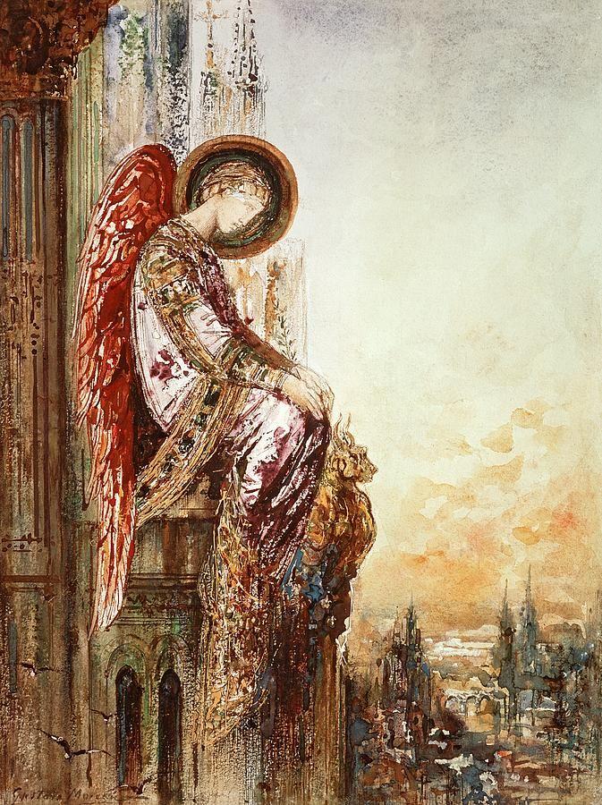 """Gustave Moreau - """"Angel Traveller"""""""