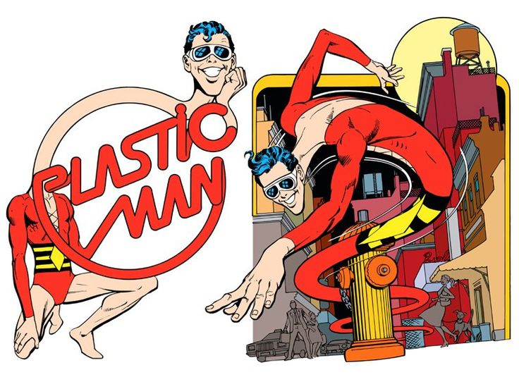 Plastic Man by José Luis García-López from the 1982 DC Comics Style Guide