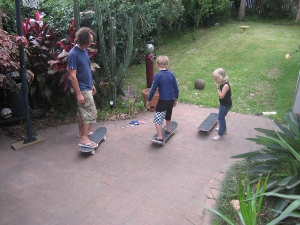 a family that skates together...