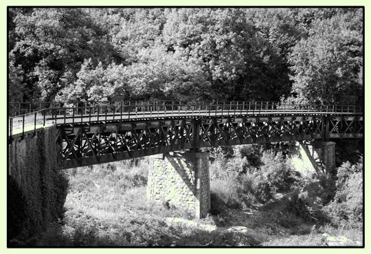 "The iron bridge, an amazing engineering work of the old railway ""Lagonegro - Spezzano Albanese"", located nearby the upper area cemetery."