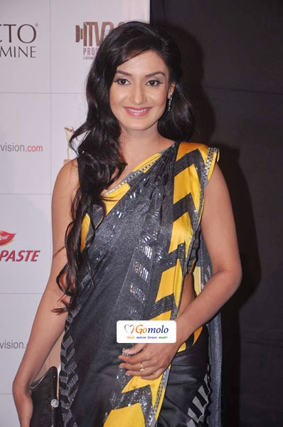 Bollywood | Rati Pandey in a gorgeous saree| Indian Telly Awards 2012 in Mumbai