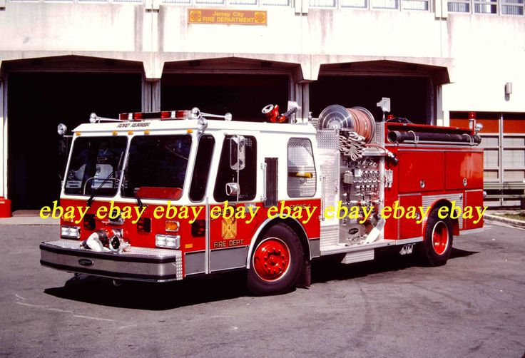 Fire Apparatus Slide Jersey City NJ Fire Dept Engine 4 1986 E-One Pumper NJ12