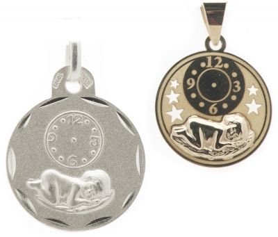 BABY CLOCK MEDALLION - Sterling Silver or 9ct Yellow Gold. A precious moment in time, remembered always. Baby Clocks can be hand-engraved with the hands of the clock to create a very personal keepsake that will be treasured always.