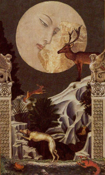 The Moon - Golden Tarot