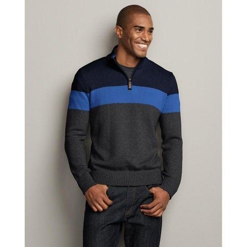17d7745703c from amazon.com · Eddie Bauer Color Block Quarter-Zip Sweater