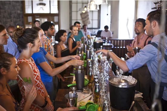 Cocktail making classes for birthday parties in Glasgow www.hireabarman.com