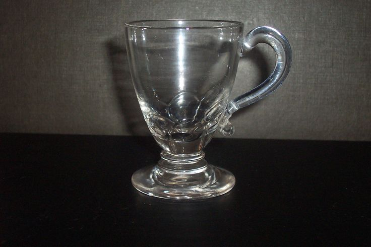 George 111 custard cup with petal molded lower bowl and polished pontil.