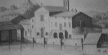 Bagno Vignoni in un vecchio disegno
