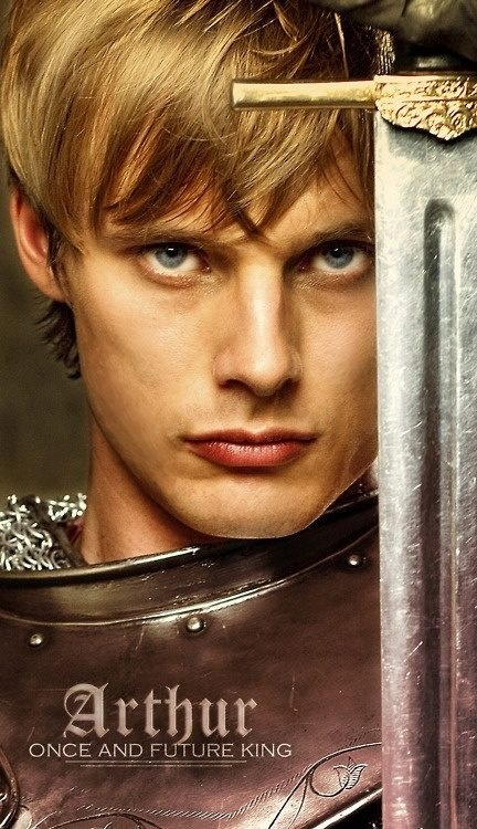 blonde-haired, blue-eyed and muscular .... our resident clotpole, Arthur. Yeah, I'd follow him