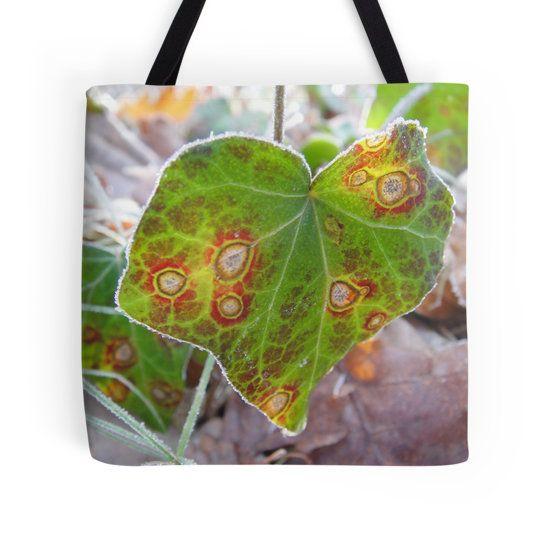 Cool, colorful ivy leaf tote bag by fotosbykarin @ Redbubble  #bags #totebags #ivy #heart #nature #cool #fotosbykarin #KarinRavasio #kravasio