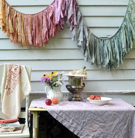 torn fabric garland