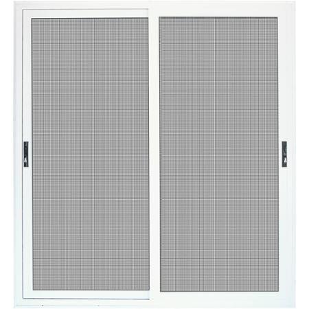 Titan security surface mount sliding patio aluminum meshtec security screen door white 72 x - Meshtec screen door ...