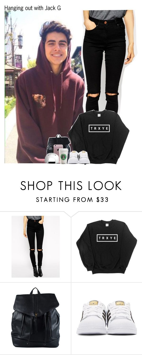 """#1691❤❤😍"" by sofi-camachod ❤ liked on Polyvore featuring ASOS, French Connection, adidas Originals and jackg"
