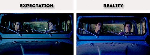 Dylan O´Brien and Tyler Posey - #Teen Wolf #Season5A Gag Reel gif