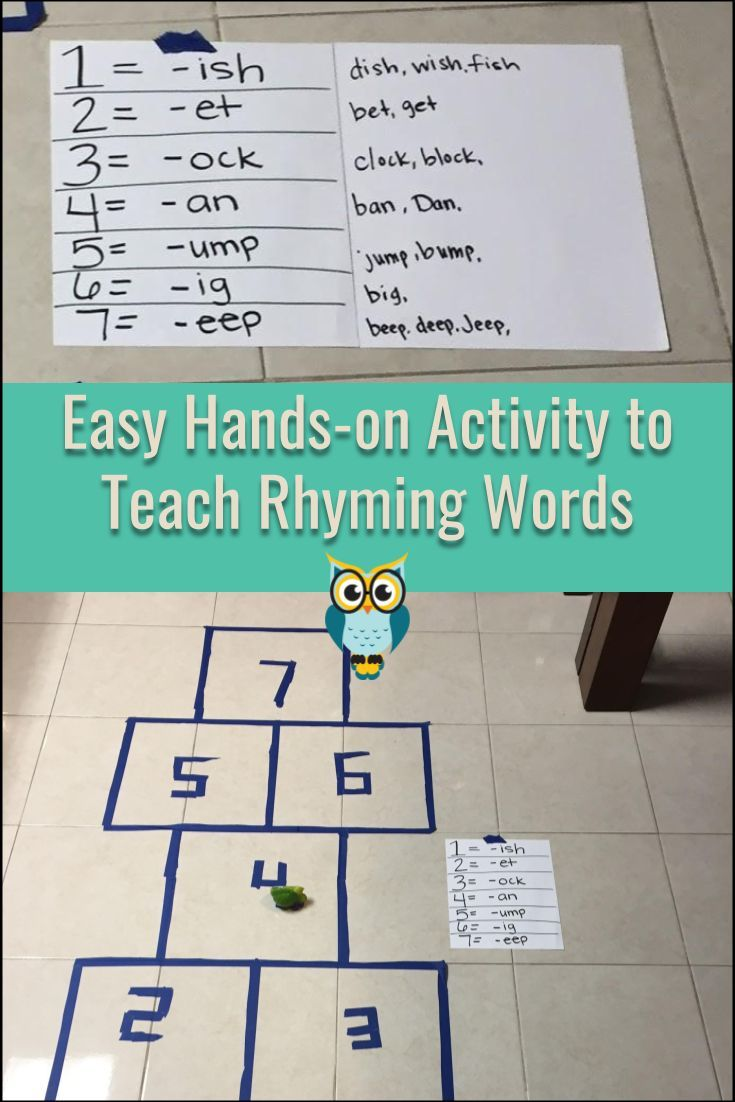 Teach rhyming words and sounds with this easy hands-on activity that ...