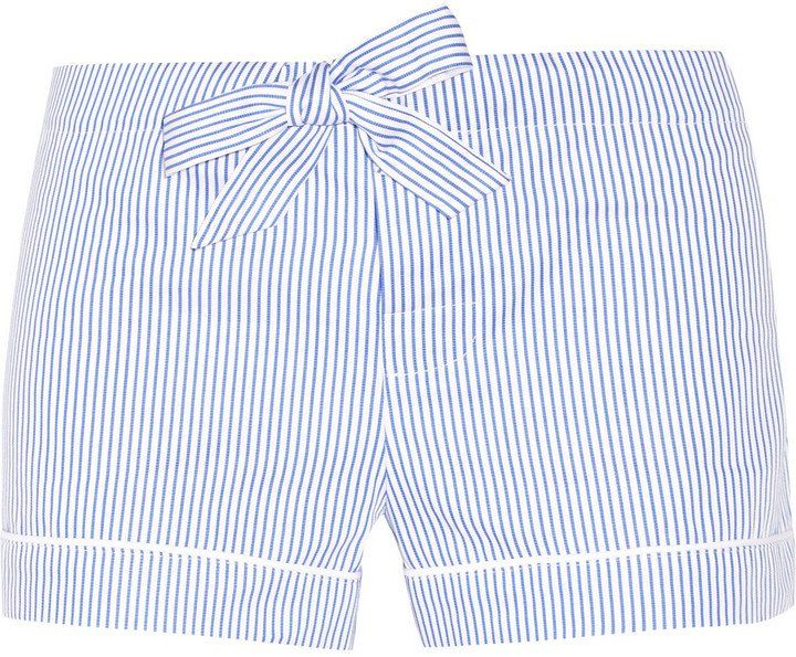 Pin for Later: Gifts So Stylish You Won't Believe They're $100 or Less  Bodas Striped Seersucker Cotton Pajama Shorts ($60)
