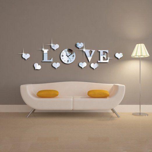1000 idee su decorazione orologio da parete su pinterest for Orologio stickers