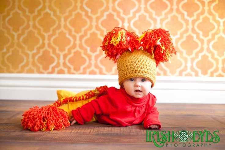 Red the Fraggle baby Halloween Costume.  Photo by Irish Eyes Photography
