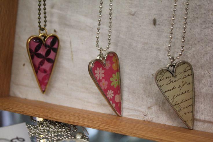 Heart necklaces by Bellbirds, $40 each. #jewellery #nzmade