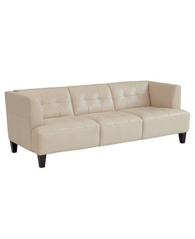 1000 ideas about white leather sofas on pinterest for Alessia leather chaise