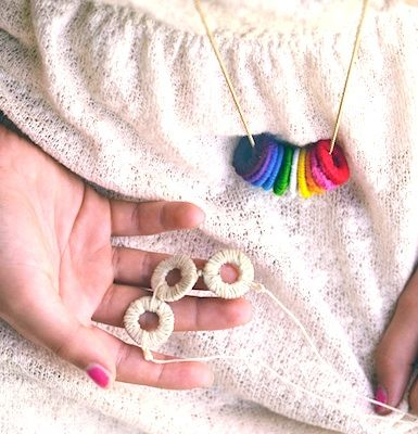Use washers and floss to create inexpensive and unique jewelry for moms and kids! Tutorial by Willowday for Design Mom. http://sulia.com/channel/crafts/f/e62c5b83ab26feec2e0d5df453754f9b/?pinner=57242641