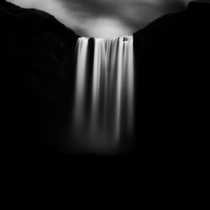 Stark Black and White Photographs of Waterfalls by Massimo Margagnoni waterfalls nature landscapes black and white