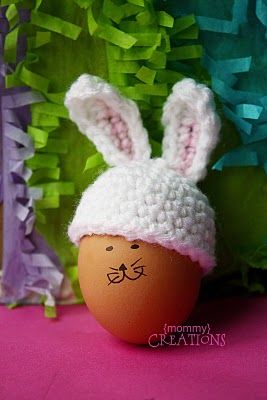 Bunny ears for your Easter eggs - crochet free pattern