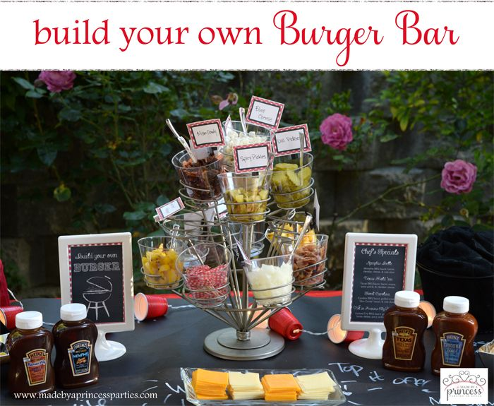 Hosting a backyard BBQ? Kick it up a notch and plan a make your own station. These Build Your Own Burger Bar Party Ideas and recipes will make you the talk of the neighborhood!