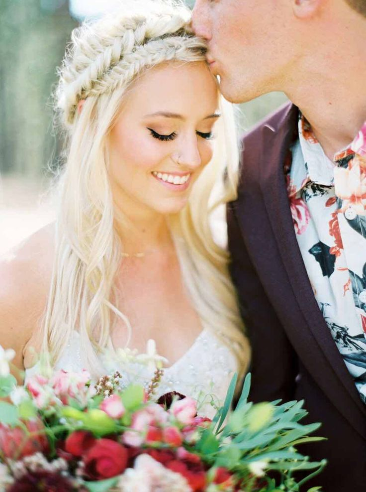 Featured Photographer: Erich McVey Photography; wedding hairstyle idea