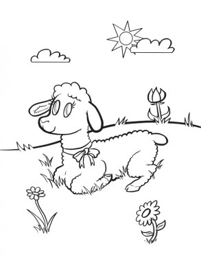 You Know How March Goes In Like A Lion Out Lamb Easter Coloring PagesColoring